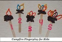 Camping and Campfire Theme for Preschool and Kindergarten / Literacy, Math, Science, Sensory, Arts/Crafts, Food Crafts, and Play Ideas for a Camping Theme in Preschool and Kindergarten