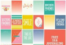 FREE: Project Life Printables