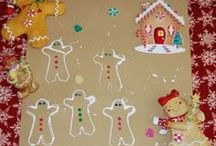 Gingerbread Man Theme for Preschool and Kindergarten / Literacy, Math, Science, Sensory, Arts/Crafts, Foods/Food Crafts, and PLAY suggestions for a GINGERBREAD MAN THEME in Preschool and Kindergarten
