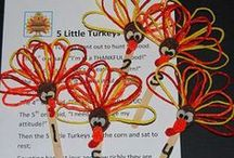 Thanksgiving and Harvest Theme for Preschool and Kindergarten / Literacy, Math, Science, Sensory, Arts/Crafts, Foods/Food Crafts, and PLAY ideas for a THANKSGIVING/HARVEST THEME in Preschool and Kindergarten