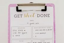 ORGANIZATION / Pinned posts on anything that will help you stay organized.