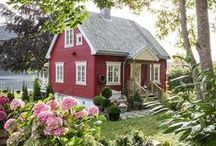 Little Red Cottage / by ShabbyPinkGirl