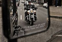 Watch Out For Bikers / Learn how to be a safe rider and share the road with cagers. It's better to be safe than sorry.