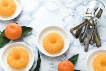 Shimmy, Shimmy, Shake / Wiggly desserts: panna cotta, custards, jello, jellies, cheesecakes, pots, pot de cremes, etc.