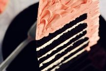 Cake.  Let me eat cake. / My husband makes delicious and beautiful cakes.  I just eat them.
