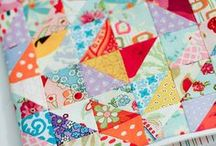 Quilts. / My mom is an amazing quilter.  I don't have the patience for quilting, but I love looking at beautiful quilts.