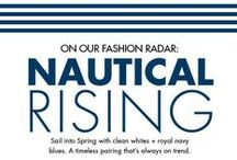 Nautical Rising / Sail into Spring with clean whites + royal navy blues. A timeless pairing that's always on trend.  / by Jean Machine