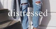 Distressed & Destroyed / One of our favourite casual denim trends - distressed, destroyed & downright perfect!