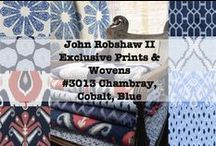 John Robshaw II Exclusive Prints & Wovens- #3013 Chambray, Cobalt, Blue / Duralee is pleased to introduce Duralee Designer: John Robshaw II, an expansion of the wildly successful first collection. Broken into three distinct color books, John Robshaw II collection follows Robshaw's color evolution.