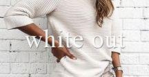 WhiteOut / White Denim, White Tops : Minimal Fashion