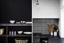 black & white Interior / elegant black and white interiors