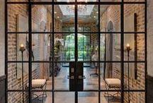 Metal-frame doors & windows / Glass doors and metal frame windows. Modern design inspiration for the #ContemporaryHome and #interiordesign