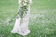 Cascades and teardrop bouquets