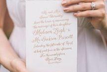 Wedding Stationery Inspiration / Wedding stationery inspiration for brides of Allison Mannella Photography