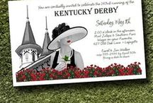 Kentucky Derby / Kentucky Derby Party Invitations, Horse Racing Themed Party Invitations, party favors, recipes and ideas to get your party started.  Show guests you care and mail unique Kentucky Derby invitations, then plan your menu from these fabulous recipes from dips to desserts and of course, delicious mint juleps, the official drink of the Kentucky Derby.