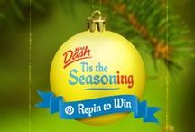 "'Tis The Seasoning Giveaway / The promotion has closed as of December 16th, 2013 at 11:59 a.m. Thanks to everyone who participated! Please stay tuned for winner announcements. Winners will be notified in a comment under their repinned ""'Tis The Seasoning"" pin. If you are a winner, please email mrsdashpinterest@gmail.com with your username, full name, and address to claim your prize. (Official Rules: http://bit.ly/18wX542)"