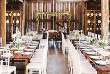 Wedding Venue Looks / Table settings and atmosphere.