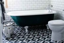 Dream Bathroom / Bursts of colours, breathing plants, spacious tubs and beautiful tiles - my dream bathroom