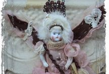 Art Dolls / Mixed media and art dolls. Precious little souls. Some stuffies as well.  / by Gigi Deal of ❤️krazyHeartdezigns❤️