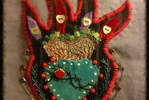 Textile Art / Gentle work. Of hand and heart. The hand-stitched. Textile love. And work done by some amazing textile and fiber artists!  / by Gigi Deal of ❤️krazyHeartdezigns❤️