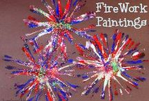 Fourth of July / Patriotic kid crafts for Independence Day! Flags and Fireworks! / by stlMotherhood