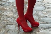 Red Tights / by Legwear Fashion