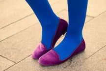 Blue Tights / Photos of outfits with blue tights, pantyhose, leggings or socks / by Legwear Fashion