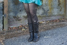 Ripped Tights / Outfits with ripped and shredded pantyhose, tights, socks or leggings / by Legwear Fashion