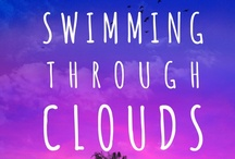 """Swimming Through Clouds - Coming June 1st! / Debut Young Adult Novel Finalist in 3 National Writing Contests in 2012 """"A Post-it note sparks a sticky romance between two unlikely friends."""" www.playlistfiction.com"""
