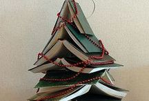 Library Christmas Tree / I have a web page on Hubpages about library Christmas trees. This pinboard serves as an inspiration link for that page. http://allainchristmas.hubpages.com/hub/library-christmas-tree
