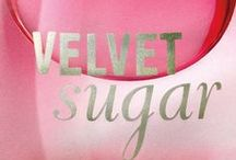 Velvet Sugar / Our playfully seductive NEW fragrance! NEW Velvet Sugar is an enticing blend of velvet créme swirled with golden plum & sugared musk. / by Bath & Body Works