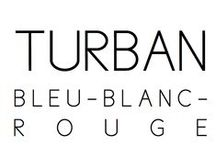 Turban / Bleu-blanc-rouge / DONIA ALLEGUE - Parisian House of Turbans Millinery Made in France http://www.doniaallegue.com