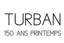 Turban / 150 ans Printemps / DONIA ALLEGUE - Parisian House of Turbans Millinery Made in France http://www.doniaallegue.com