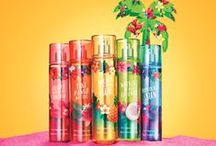 ALOHA HAWAII! / Your favorite Hawaiian collection is BACK with NEW hula-perfect fragrances ready to take you on an island hopping vacation packed with coconuts & bursting with sunshine!  / by Bath & Body Works