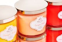 White Barn Candle Collection / Add a pop of color with Candles to decorate every room!