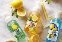 NEW! Kitchen Lemon Collection / Simply the ZEST! Your favorite kitchen Hand Soap has a NEW look & 2 NEW fresh-squeezed fragrances to complete your kitchen sink.