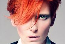 David Bowie-Inspired Fashion / A collection of Pinterest images showcasing David Bowie's influence on the fashion world.