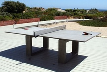 The Great Outdoors / Outdoor game table including outdoor ping pong table, exterior foosball tables and other fun outdoor games like bean bags, lawn darts or frisbie style games / Jeux extérieurs tels que le babyfoot extérieur, tables de ping pong extérieur,  jeux de poches et plus