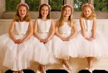 Flower Girls / A snapshot of the dresses and accessories we sell for flower girls.