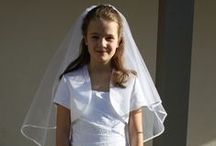 Holy Communion / A range of gorgeous dresses, hair accessories, veils and gloves.