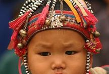 Baby Hats of Asia / The folklore and beliefs of the different cultures and minority groups of Asia have always fascinated me and I am continually discovering new and amazing beliefs that have permeated their cultures for centuries and centuries, especially when it comes to textiles.  One of the loveliest of these beliefs centres around the wearing of hats and caps by children.