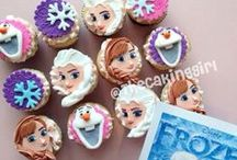 CUPCAKES by TheCakingGirl / All custom cupcakes you see here are made by me :) fondant cupcakes, custom cupcakes, edible toppers, gumpaste, dessert, cupcake towers, wedding cupcakes, cute cupcakes...