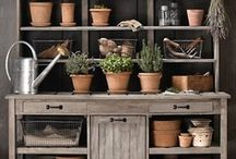 The potting shed / A potting shed is on my wish list....