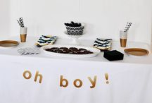 Leslie baby shower- April 26th / Boy baby shower planning / by Nichole Hughes