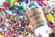 Tossing Confetti / We have a mild obsession with confetti