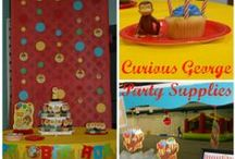 Curious George Birthday Party Ideas / #curiousgeorge #kids #birthday #party