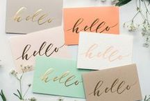 Gold Foil / We may be a little obsessed with gold foil... / by Swoozie's