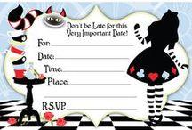 Alice in Wonderland / Quelques idées pour organiser une grande fête sur le thème de l'Alice de Lewis Caroll