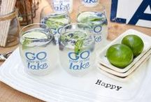 Go Jump in the Lake / Outdoor entertaining at the lake, home decor and fun lake activities! / by Swoozie's