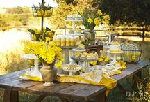 Hello Yellow! / A yellow wedding theme is the perfect way to celebrate happy romance / by Swoozie's